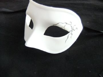 White Mask with silver design